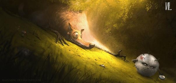 The olobo. Upside-down creepy story Лиса резко затормозила, почуяв неладное в желудке, подняла морду к солнцу, чихнула, и ее стошнило неприглядным шариком теста. «Вот не надо было мучное на ночь