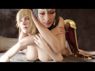 3D porn - Woman gives Cumshot Anal to Super Girl by Nyl (sex futa/ futanari)