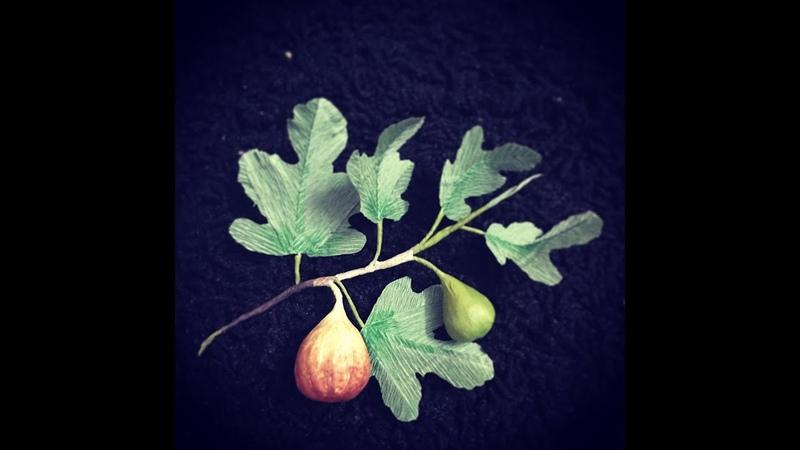 Bella's CraftHow to make fig branch by crepe paper Hướng dẫn làm cành Sung Mỹ bằng giấy nhún
