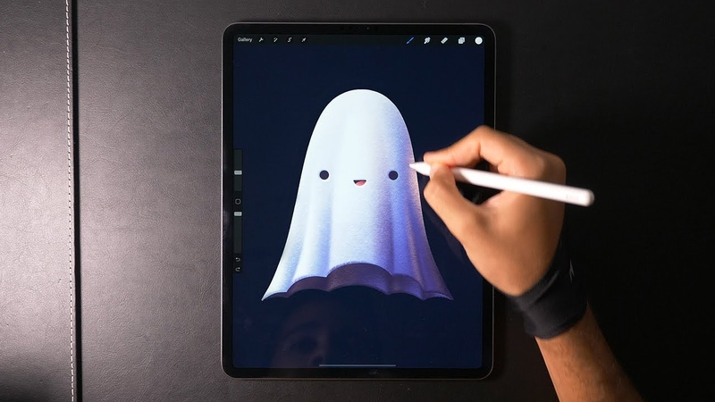 Drawing a Ghost with Procreate 👻