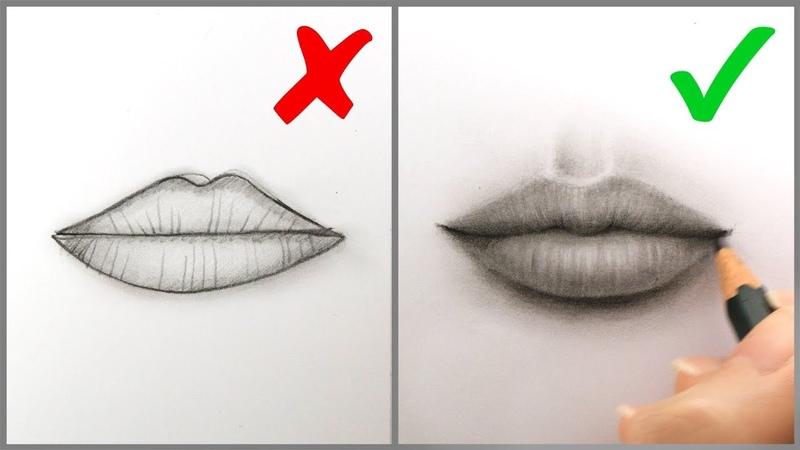 Don'ts Do's: How to Draw Realistic Lips (Mouth) – Easy Step by Step Tutorial for Beginners (2019)