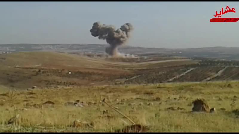 كاميرا_عشاير غارات جوية روسية على ريف ادلب الجنوبي
