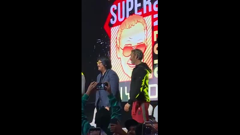 Mads Mikkelsen and Benedict Wong at Stan Lee's Super Con Riyadh 2019