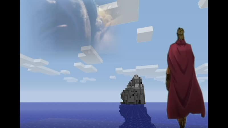 Дио ищет свой остров в океане...