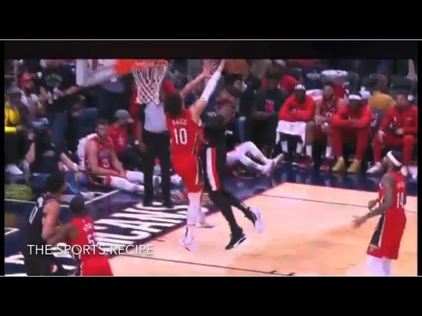Carmelo Anthony tries to dunk on Jaxson Hayes and gets rejected! Welcome back! Blazers vs Pelicans