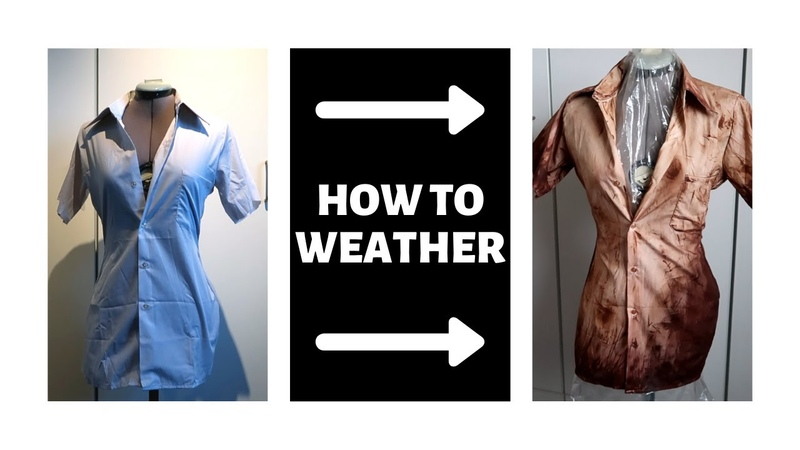 How to weather fabric with Acrylic paints Silent Hill Cosplay Tutorial Horror