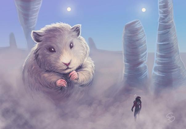 Ням-ням У яркого костра собралась небольшая компания из семи человек, одного инопланетного существа, и его необычного питомца. Их смех и болтовня были слышны на всю округу. Лишь один из