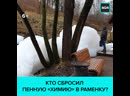 Река Раменка вспенилась на Воробьёвых горах Москва 24