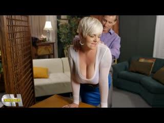 Муж трахнул жену с большими сиськами в анал и киску, busty blond big tit boob sex porn milf wife mature mom anal (Hot&Horny)
