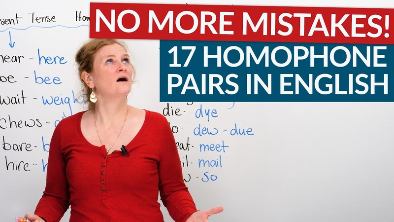 Learn 17 homophone pairs in English be bee know no hear here…