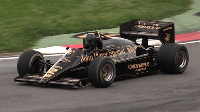 1985 Lotus 97T F1 V6 Turbo Sound Accelerations Flaming Warm Up
