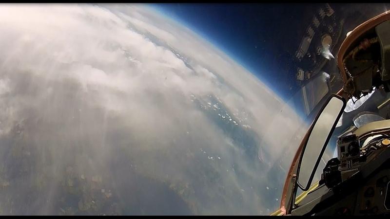 MiG-29 High Altitude Stratosphere Flight - long version 8 camera HD | flight data