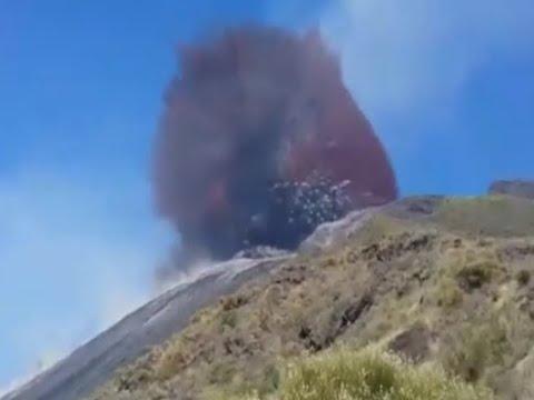 Eruzione esplosiva dello Stromboli con evacuazione di Ginostra del 3 luglio
