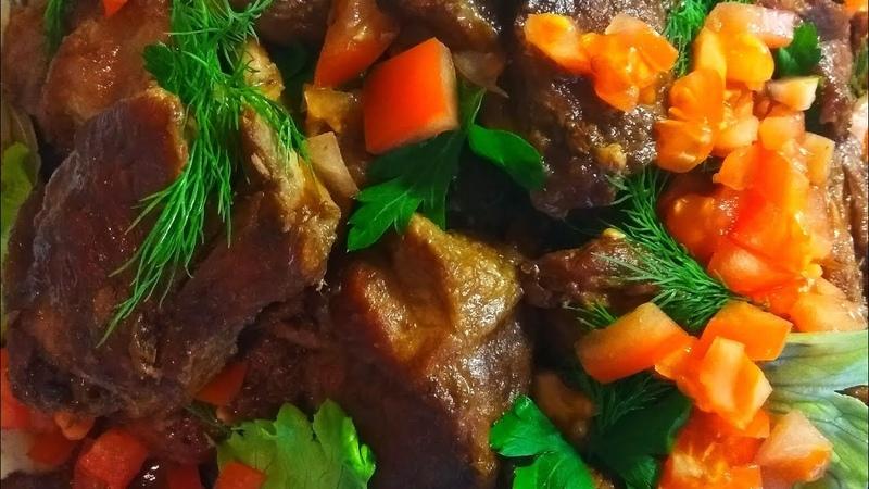 Адобо из мяса филиппинская кухня
