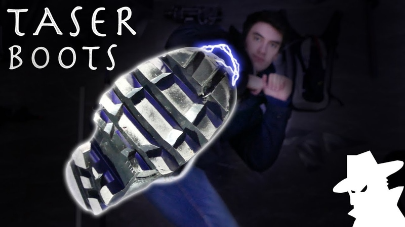How To Make TASER BOOTS! - Over 300 MILLION Volts (Super Simple Spy Gadget)