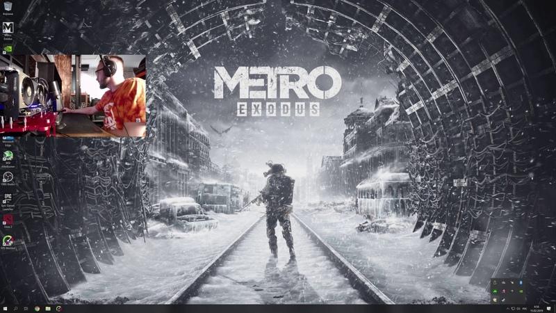 METRO EXODUS on 2x TITAN RTX NVlink i9 9980XE 4K60fps stream