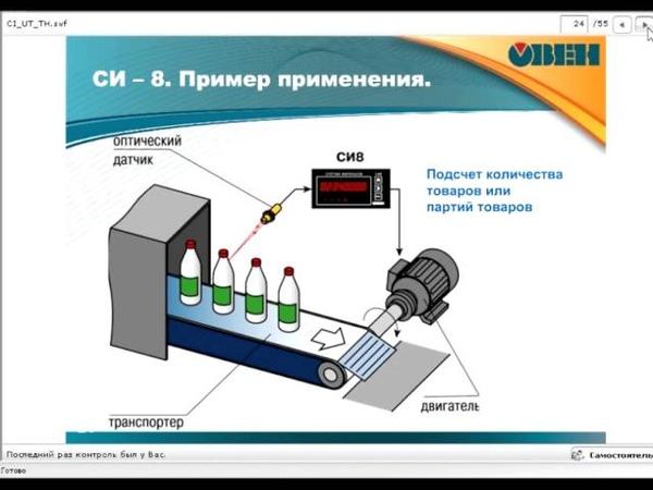 Вебинар ОВЕН Счетчики импульсов таймеры бесконтактные датчики