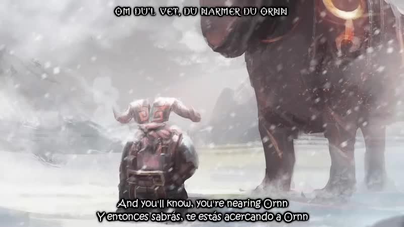Ornn, The Fire Below the Mountain (Lyrics)(Sub Esp⁄Eng)
