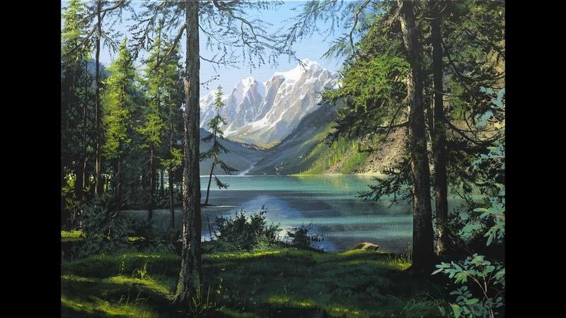 Swiss Alps Summer landscape Artist Viktor Yushkevich 4 picture in 2020