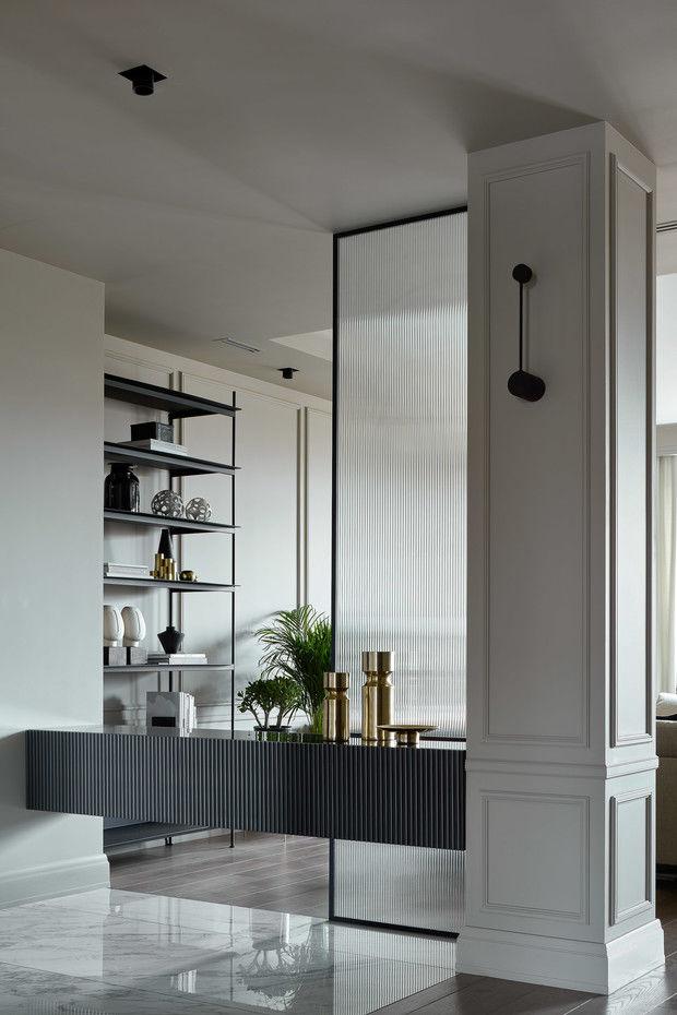 Квартира в жемчужных оттенках в новом доме на Яузе от бюро Quadro Room    01