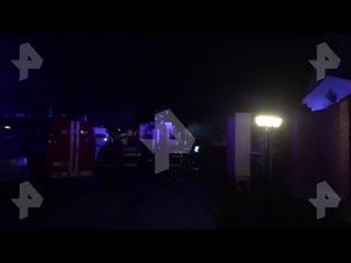 Видео с места смертельного пожара в хосписе под Москвой