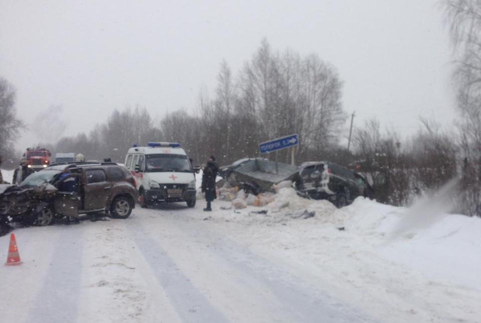 Два человека пострадали в серьезном ДТП на автодороге Дубна - Кимры - Горицы
