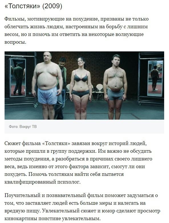 Фильмы, которые помогут вам похудеть