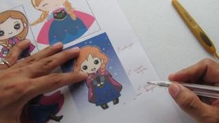 ANNA de FROZEN personajes AMIGURUMIS primer video