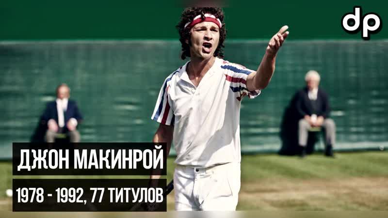 🔥 ТОП 15 теннисистов мира за всю историю большого тенниса