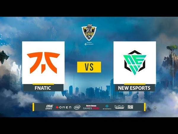 Fnatic vs NEW Esports ONE Esports Dota 2 SEA League bo2 game 1 Lex
