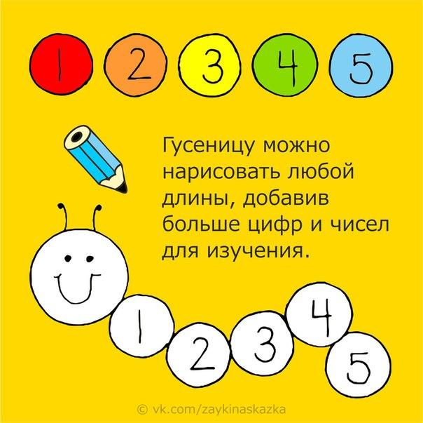 МАТЕМАТИЧЕСКАЯ ГУСЕНИЦА Изучаем цифры. Гусеницу можно нарисовать любой длины, добавив больше цифр и