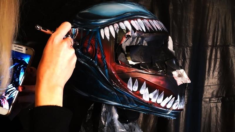 VENOM MOTO helmet painting