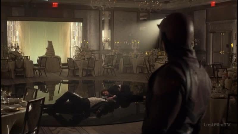 Сорвиголова залетает к Фиску и Меченному на свадьбе Фиска и Ванессы Часть 3