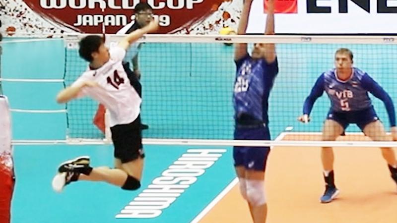 日本vsロシア 第1セット 男子バレーボール2019