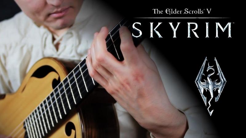 SKYRIM Main Theme Dragonborn Classical Guitar Bard Style