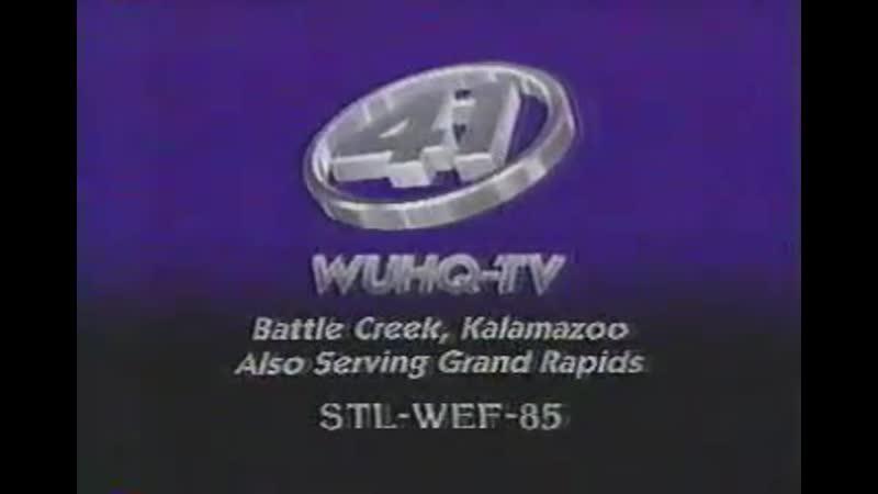 Конец эфира WUHQ TV г Батл Крик США 1989