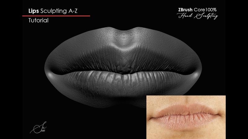 Lips sculpting A-Z (Part 2) Zbrush Core