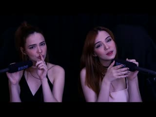 ASMR TWINS 🤤 Inaudible_Unintelligible Whispers with Mouth Sounds