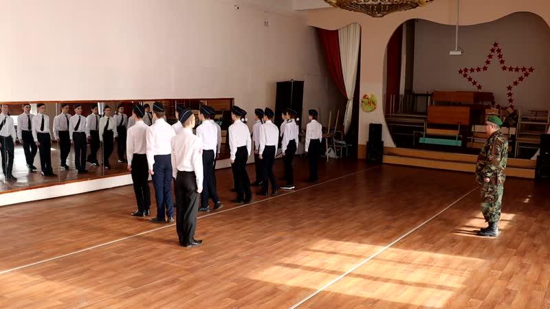 строевая подготовка младших членов отряда
