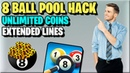 8 Ball Pool Hack 🔥 How to Hack 8 Ball Pool Coins For Free ✅ 2020 Extended / Long Lines MOD APK