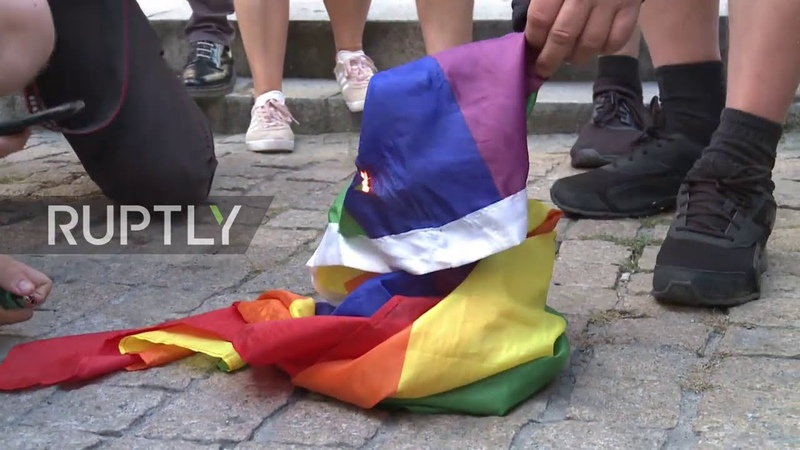 Poland Nationalists burn LGBT flag while marking 76th anniversary of Warsaw Uprising