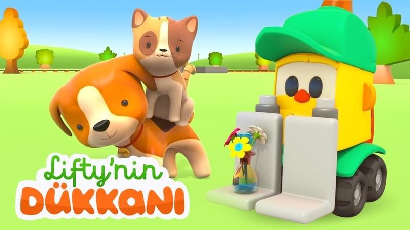 Çizgi film Köpek ve kedi Lifty'nin dükkanında Küçük çocuklar için