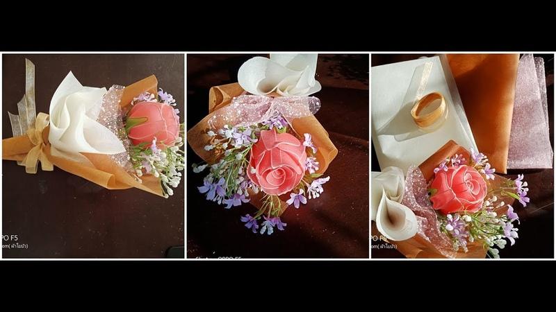 EP 138 : จัดช่อดอกกุหลาบวาเลนไทน์ แบบง่าย How to Make DIY Valentine