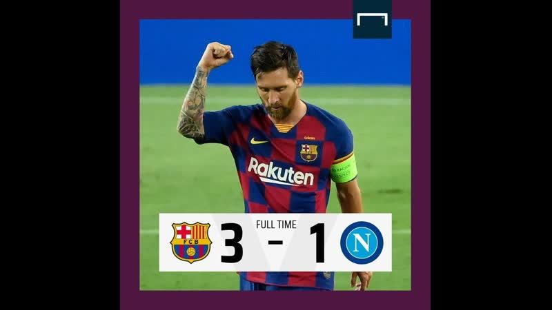 👍👍🇪🇸Барселона (4) 3 - 1 (2) 😭😭🇮🇹Наполи ( 🏆 🇪🇺 Европа Лига Чемпионов 2019-2020 18-Финала 2-Игра ) 9.08.2020