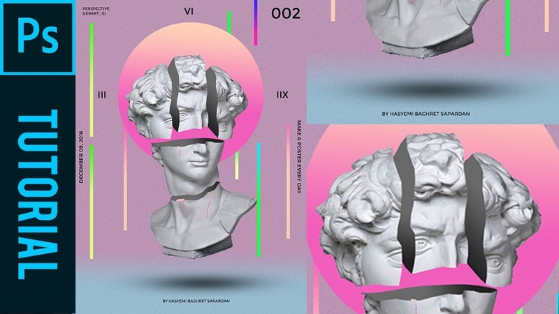 Perspective Sliced Statue head ala magdiel lopez Tutorial Photoshop CC 2019