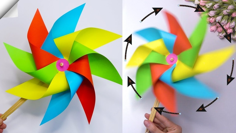 How To Make Paper Windmill Moving paper TOYS